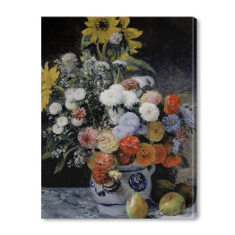 Auguste Renoir - Mixed flowers in an earthenware pot (reprodukcja)