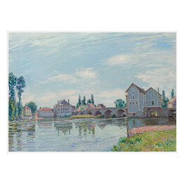 "Alfred Sisley ""The Loing Flowing under the Moret Bridge"" reprodukcja"