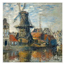 Claude_Monet - The Windmill, Amsterdam (reprodukcja)