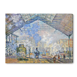 Claude Monet - Saint-Lazare Station, Exterior View (reprodukcja)