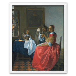 Jan Vermeer - The girl with a wineglass, reprodukcja