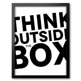 Napis Think outside the box