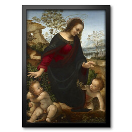 Leonardo da Vinci - Madonna and Child with the Infant St. John the Baptist, reprodukcja