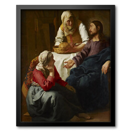 Jan Vermeer - Christ in the House of Martha and Mary, reprodukcja