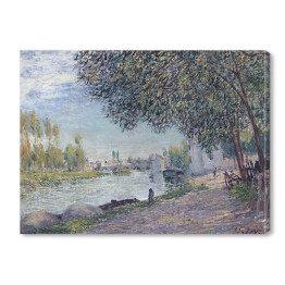 "Alfred Sisley ""Port w Moret-sur-Loing"" - reprodukcja"