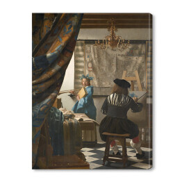 Jan Vermeer - The Art of Painting, reprodukcja