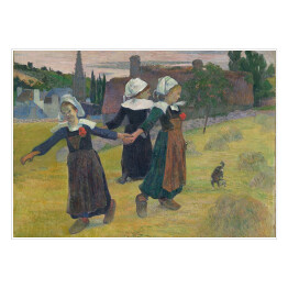 Paul Gauguin - Breton Girls Dancing, Pont-Aven, reprodukcja
