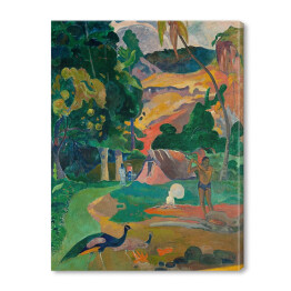 Paul Gauguine - Landscape with peacocks, reprodukcja