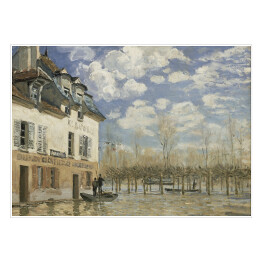 "Alfred Sisley ""Boat in the Flood at Port Marly"" reprodukcja"