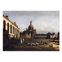 "Canaletto - ""The New Market in Dresden St. Petersburg Eremitage"""