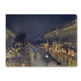 "Camille Pissarro ""The Boulevard Montmartre at Night"" reprodukcja"