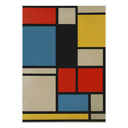 "Piet Mondriaan ""Composition in blue, red and yellow"""