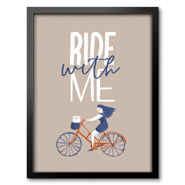 Rower - napis Ride with me