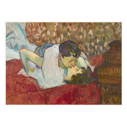 Henri de Toulouse-Lautrec - The Kiss, reprodukcja