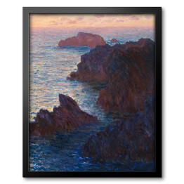 Claude Monet - Rocks at Belle-lle, Port-Domois (reprodukcja)
