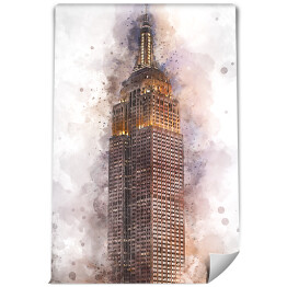 Nowy Jork Empire State Building, watercolor