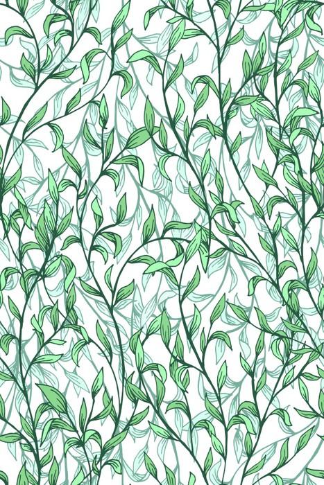 Wektorowy bezszwowy wzór z gałąź, liście. Ilustracja w stylu wiktoriańskim