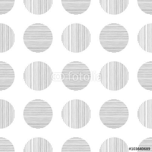Wzór w czerni i bieli. Powtarzalna tekstura. Ręcznie rysowane koła składające się z ręcznie rysowane linie. Abstrakcjonistyczny Wektorowy atramentu Pióra Doodle Monochromatic Tło