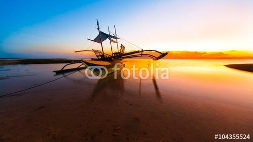 zachód słońca tropikalne morze