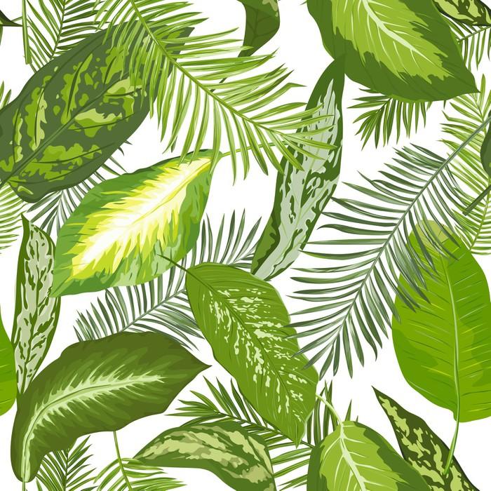Bezszwowa Tropikalna palma Opuszcza tło - dla projekta, scrapbook