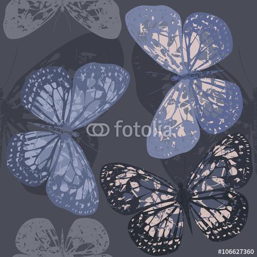 Bezszwowy wzór z Eleganckim motylem