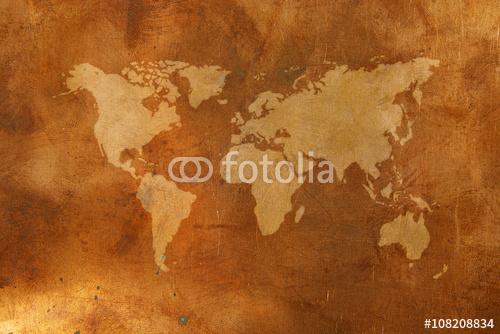 Brązowa mapa