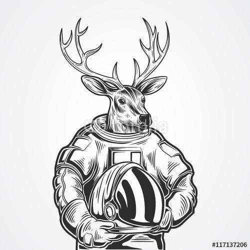 Ręcznie rysować jelenia