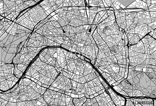 Mapa Miasta Paryża