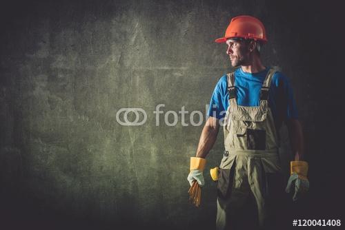 Portret pracownik budowlany