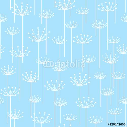 Wzór z stylizowanymi kwiatami