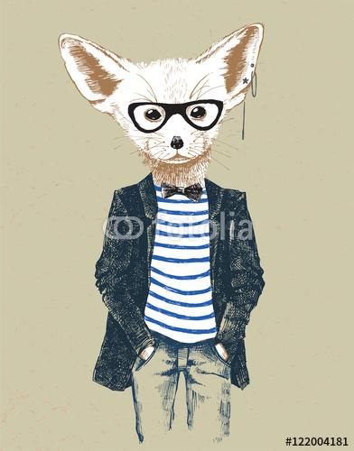 Cwany lisek hipster