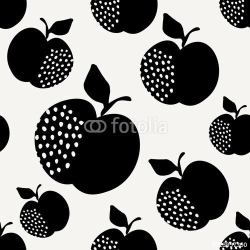 Wzór bez szwu jabłek