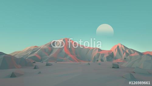 Krajobraz górski na Marsie