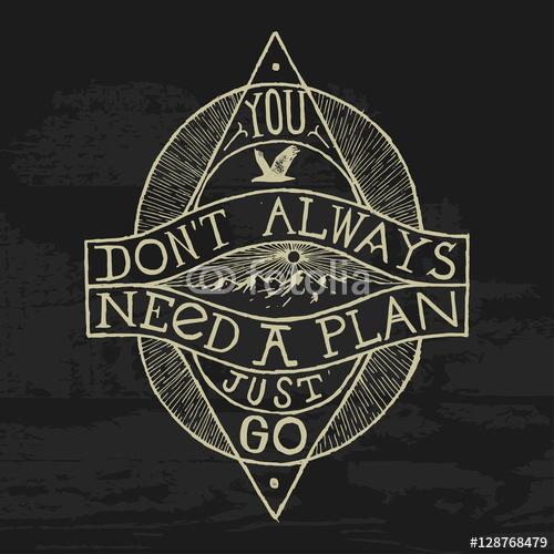 nie potrzebujesz planu - po prostu idź. druk gór turystycznych.