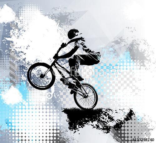 Rowerzysta, sport ilustracja, wektor