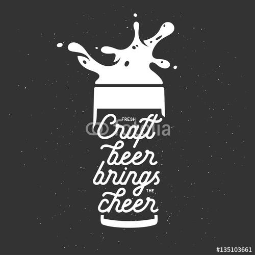 Napis Na Kuflu Z Piwem
