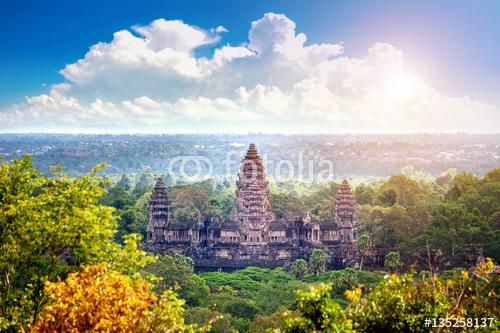 Angkor Wat świątynia, Siem Przeprowadza żniwa, Kambodża.