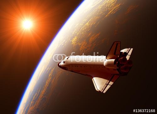 Prom kosmiczny w promieniach słońca