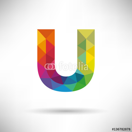 Geometryczne litera U ikona i szablon logo.