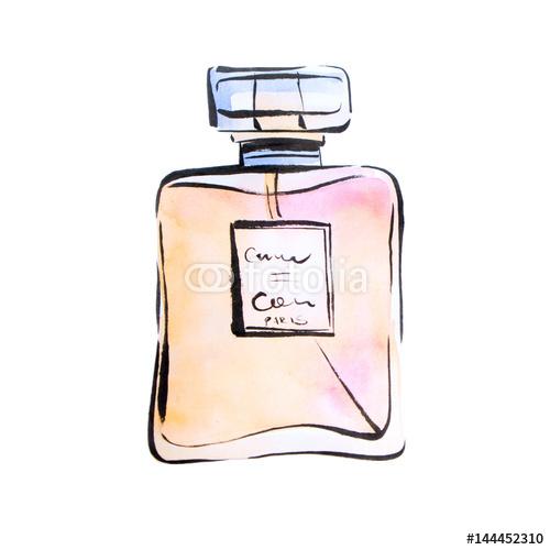 Ilustracja flakonika perfum