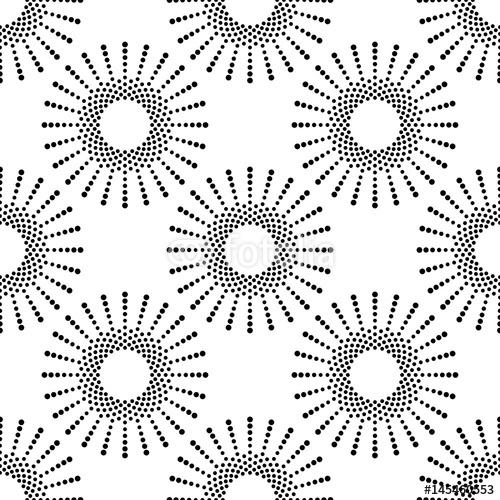 Wektorowy bezszwowy wzór. Nowoczesna, stylowa tekstura. Monochromatyczny geometryczny wzór z koła kropek.