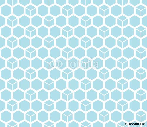 sześciokąt geometryczny wzór siatki tło wektor wzór