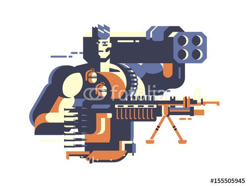 Żołnierz z pistoletem