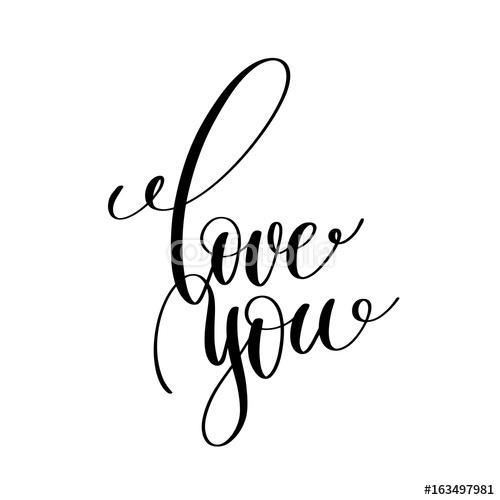 Kocham Cię Czarno Biały Napis