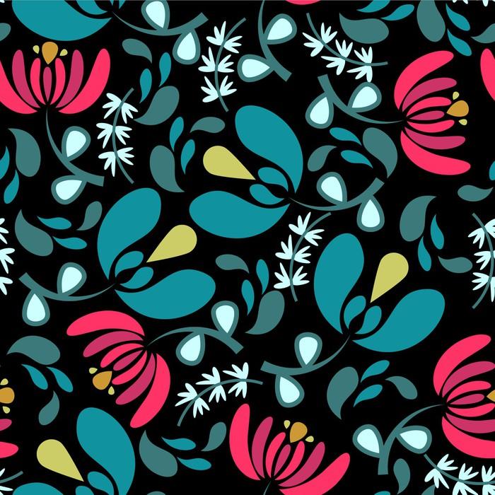 Bezszwowy wzór z pięknymi kwiatami