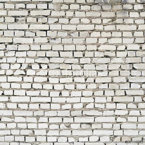 Stary biały ściana z cegieł czerep