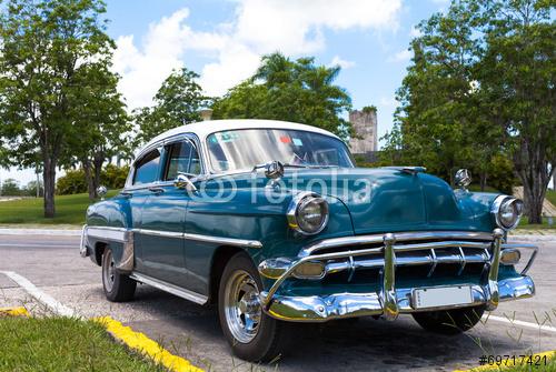 Kuba karaibski amerykański klasyczny samochód