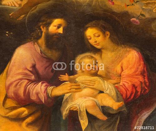 Sewilla - Farba Świętej Rodziny w kościele Iglesia de la Anunciacion