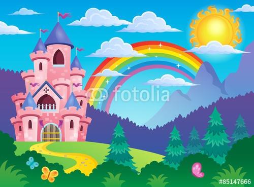 Różowy motyw motywu zamku 4
