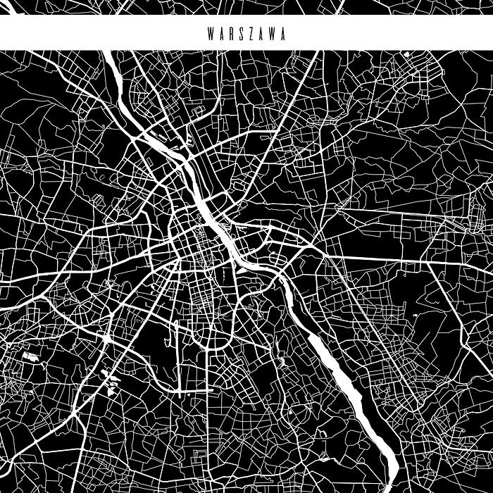 Mapa Miast świata Warszawa Czarna